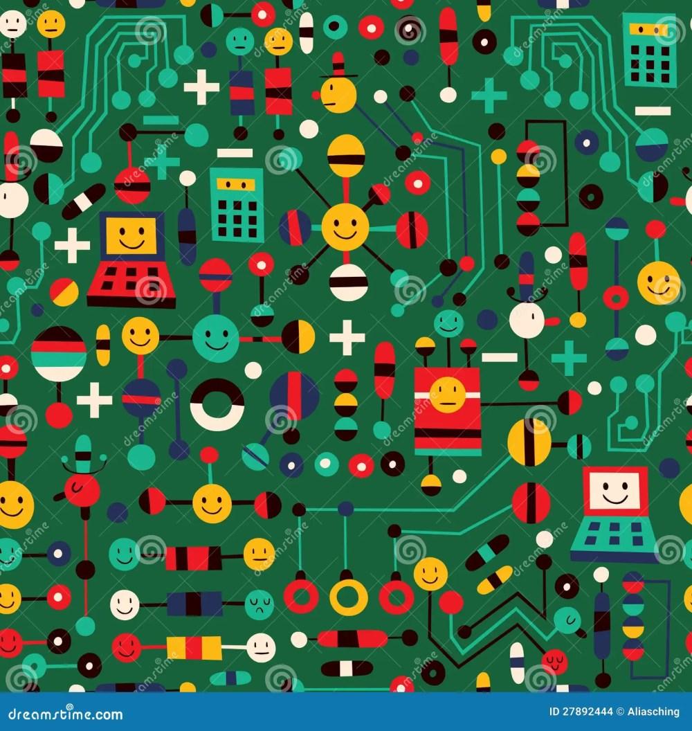 medium resolution of cartoon circuit board stock vector illustration of design 27892444 cartoon circuit board