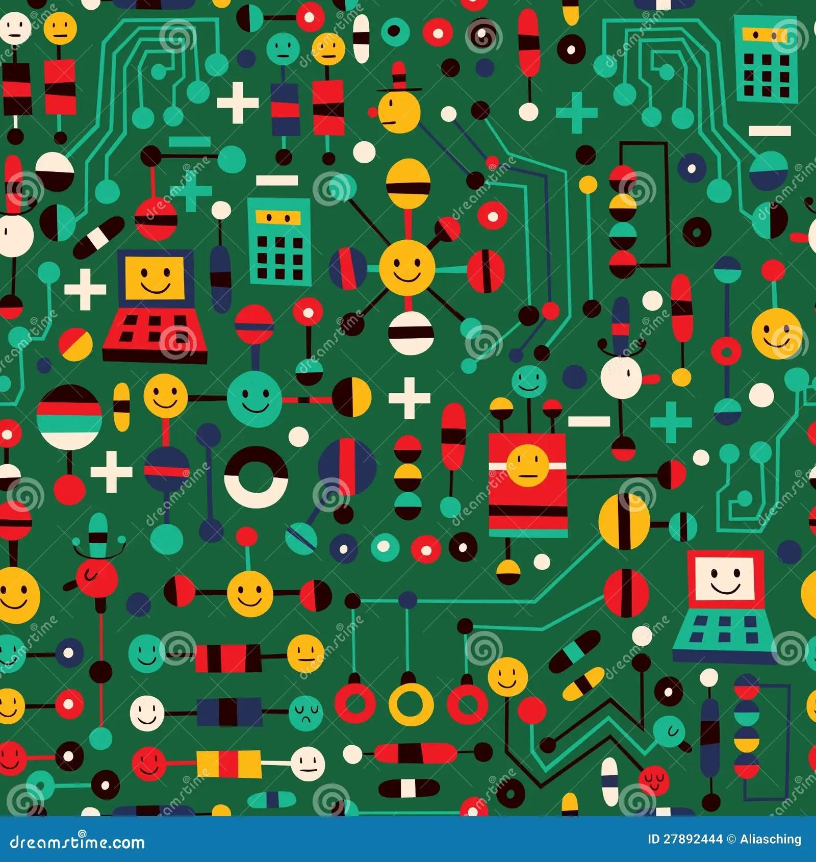 hight resolution of cartoon circuit board stock vector illustration of design 27892444 cartoon circuit board