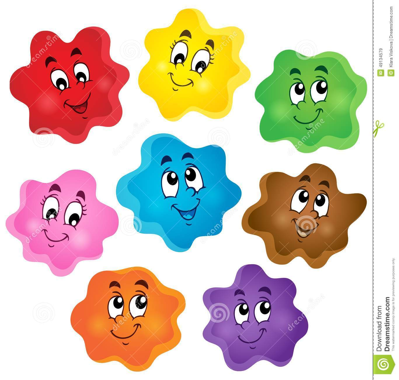 Cartoon Color Shapes Collection Stock Vector