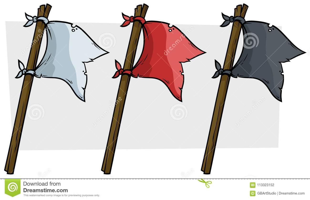 cartoon colored pirate flags