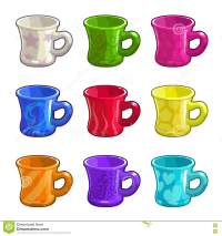 Cartoon Colorful Bright Tea Cups Stock Vector - Image ...