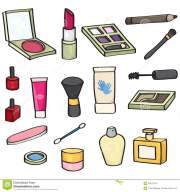 cartoon cosmetics set stock vector