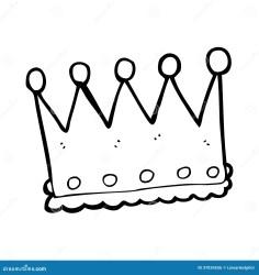 cartoon corona crown vector line retro fumetto illustratie