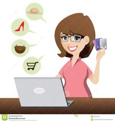 shopping cartoon credit cute cards illustration vector dreamstime