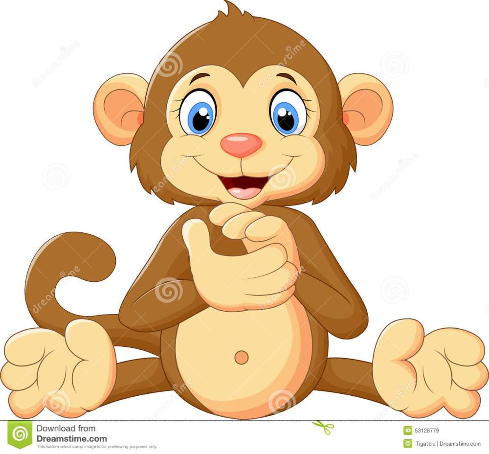 medium resolution of illustration of cartoon cute monkey clapping his hands royalty