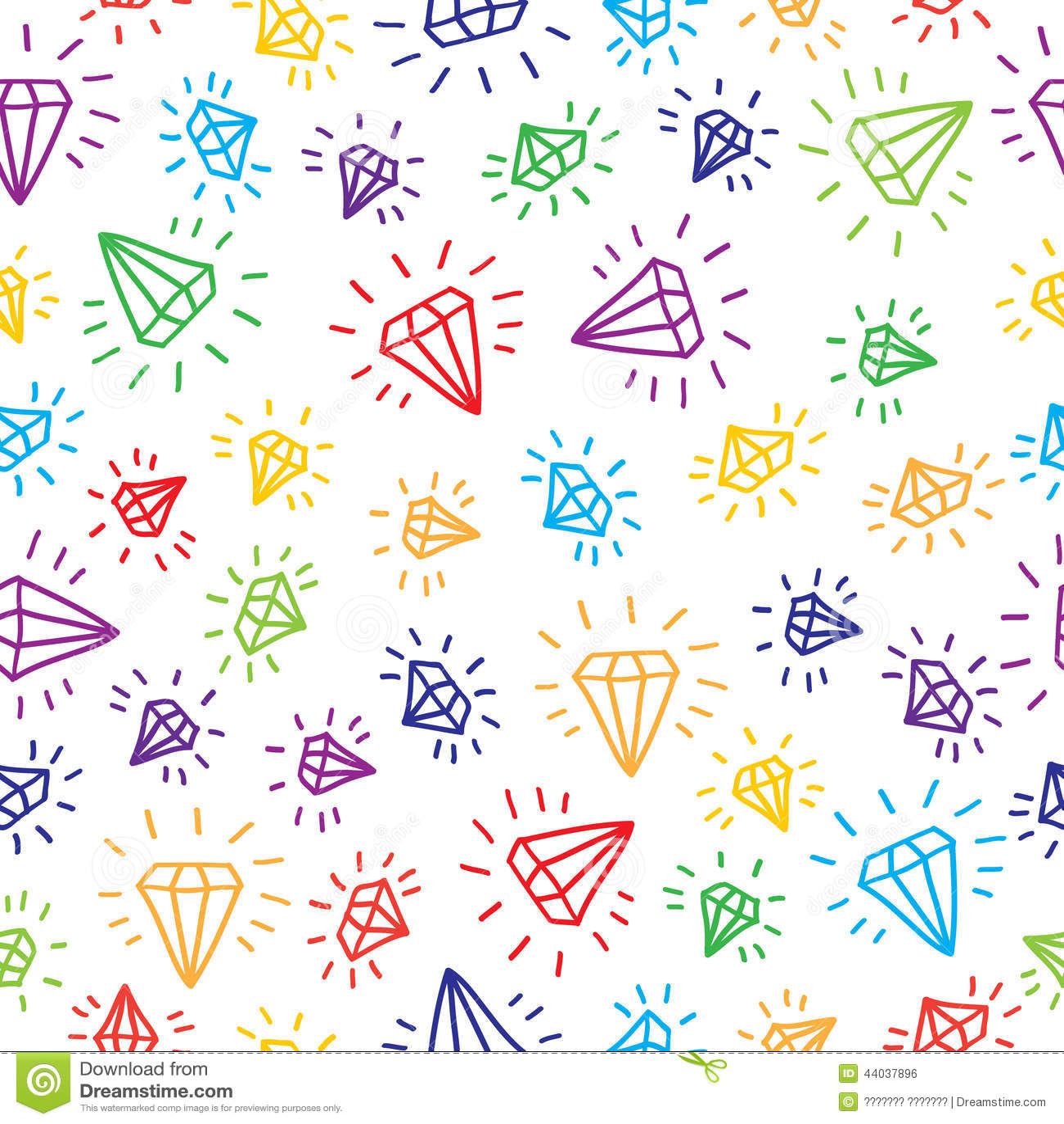 Black And White Wallpaper Iphone 6 Cute Cartoon Diamond Seamless Vector Background Stock Vector
