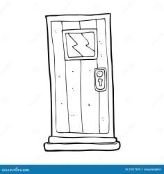 White Door Cartoon