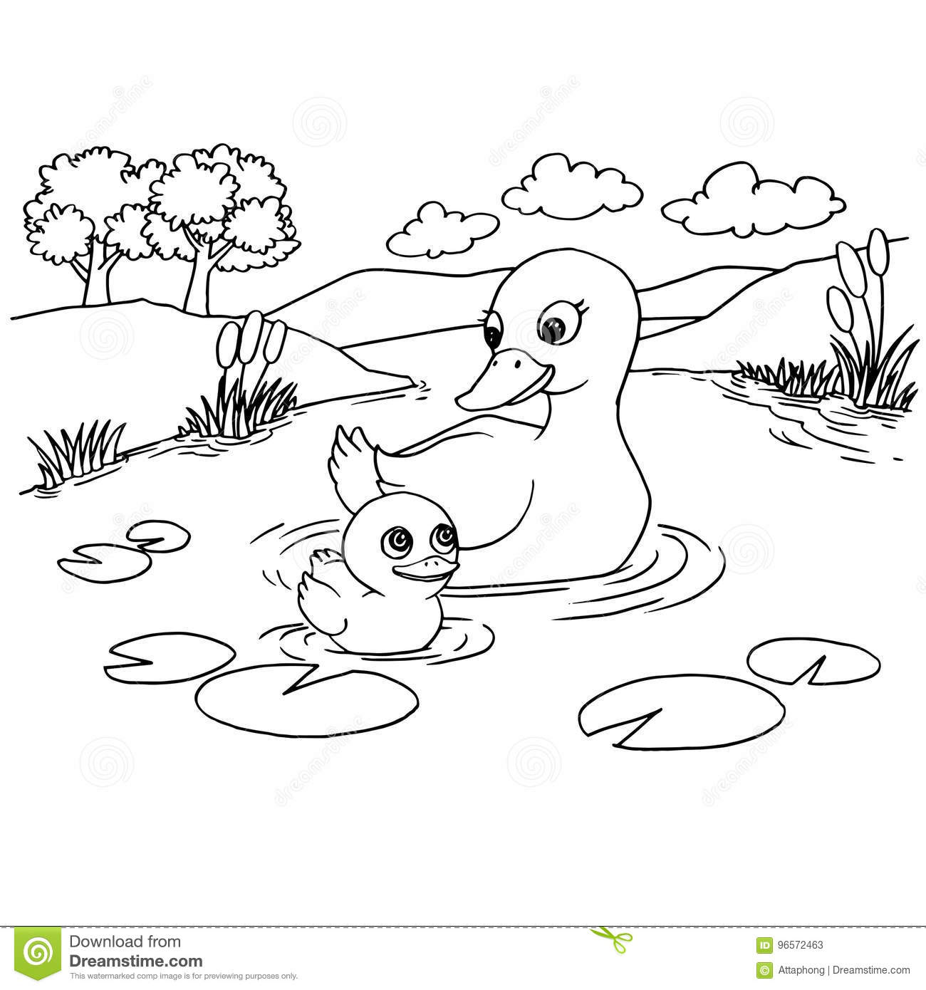Coloring Worksheet Duck