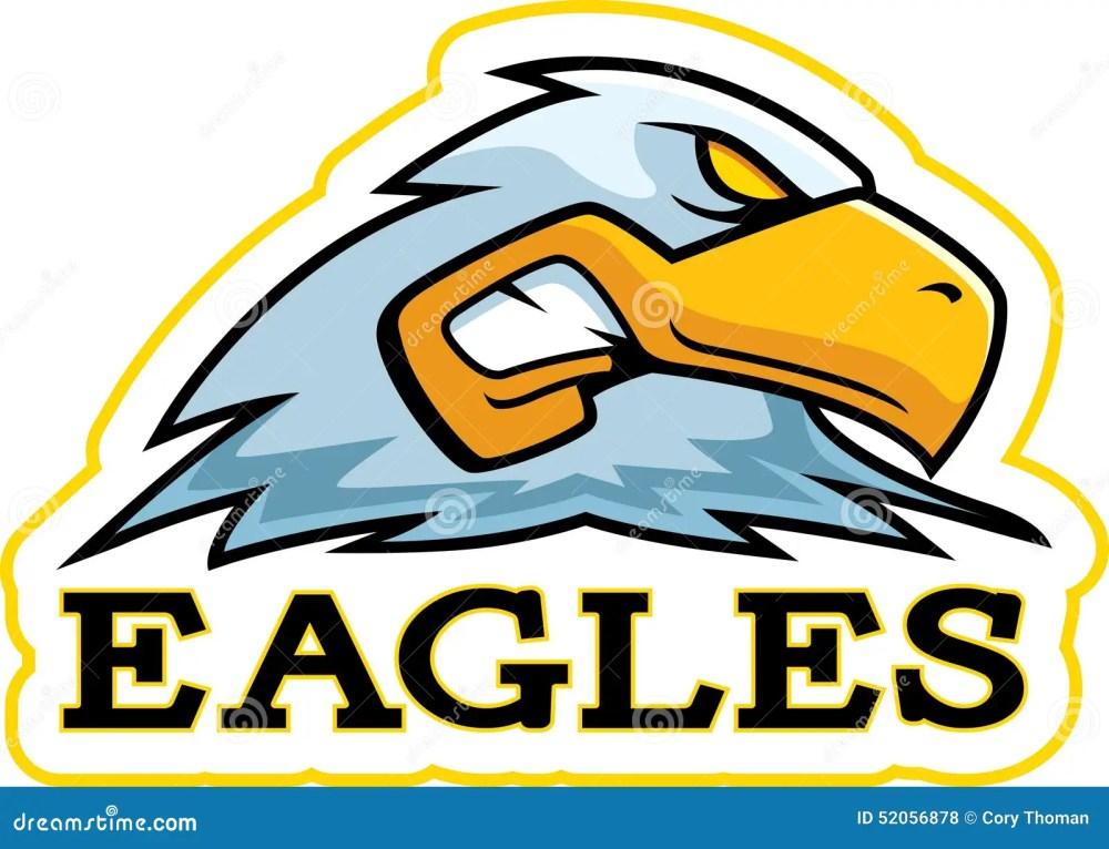 medium resolution of a cartoon illustration of an eagle mascot head