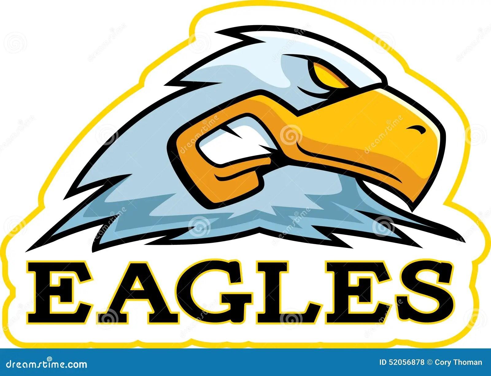 hight resolution of a cartoon illustration of an eagle mascot head