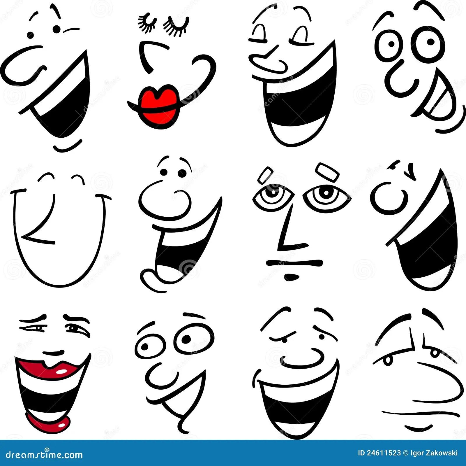 Cartoon Emotions Illustration Stock Photos