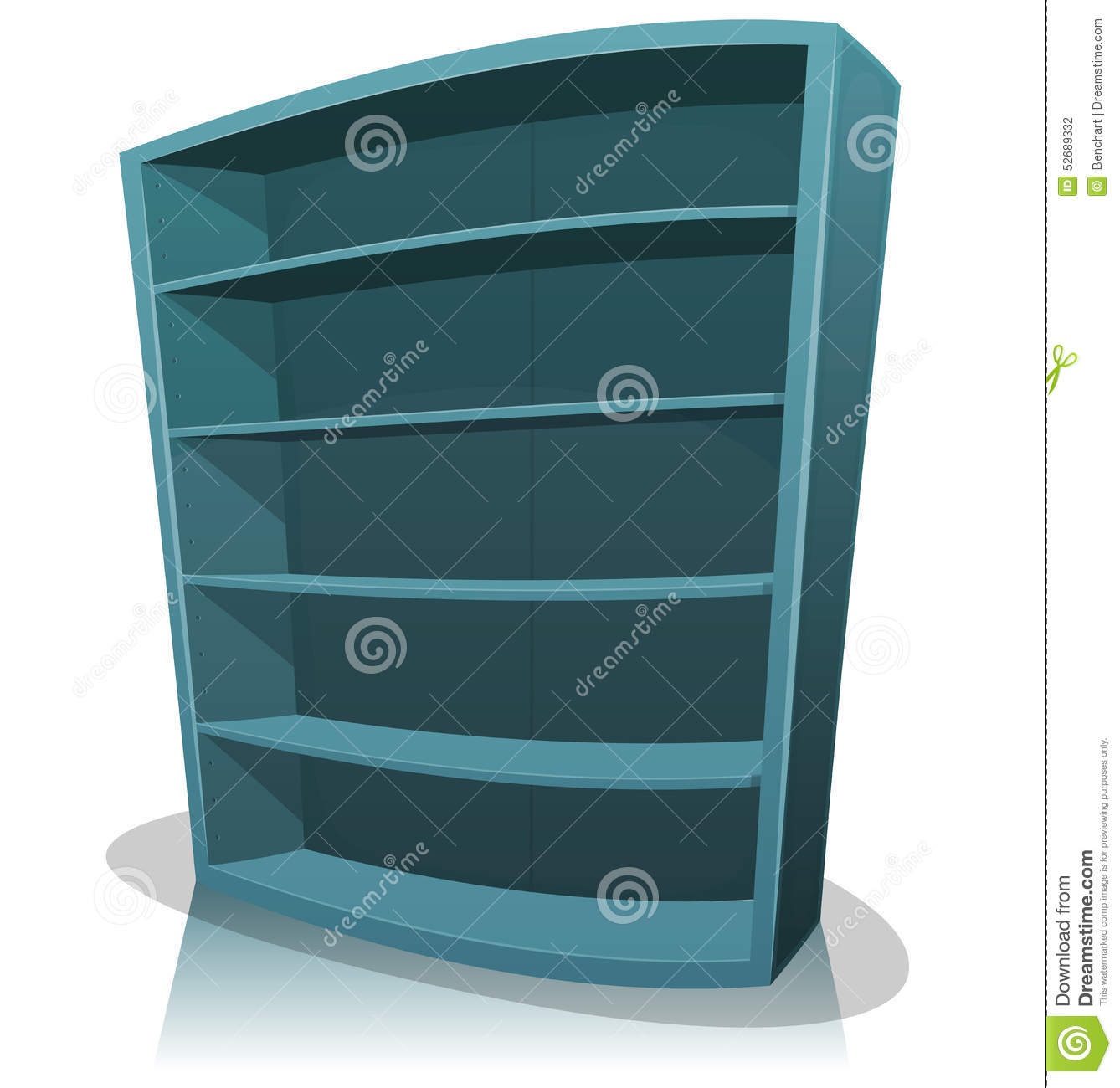 Cartoon Empty Library Bookshelf Stock Vector  Image 52689332