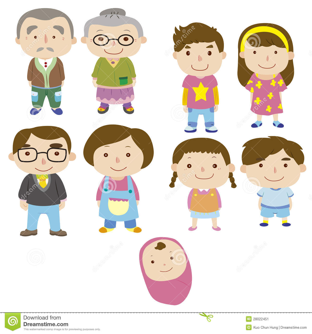 Cartoon Family Icon Stock Vector Illustration Of Female