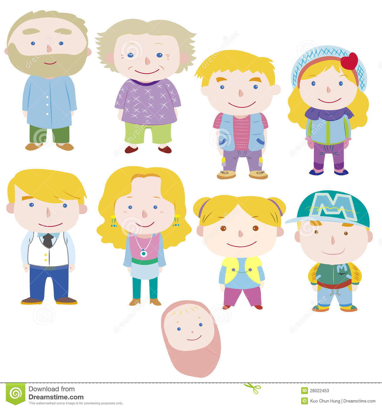 Cartoon family icon stock vector Illustration of father