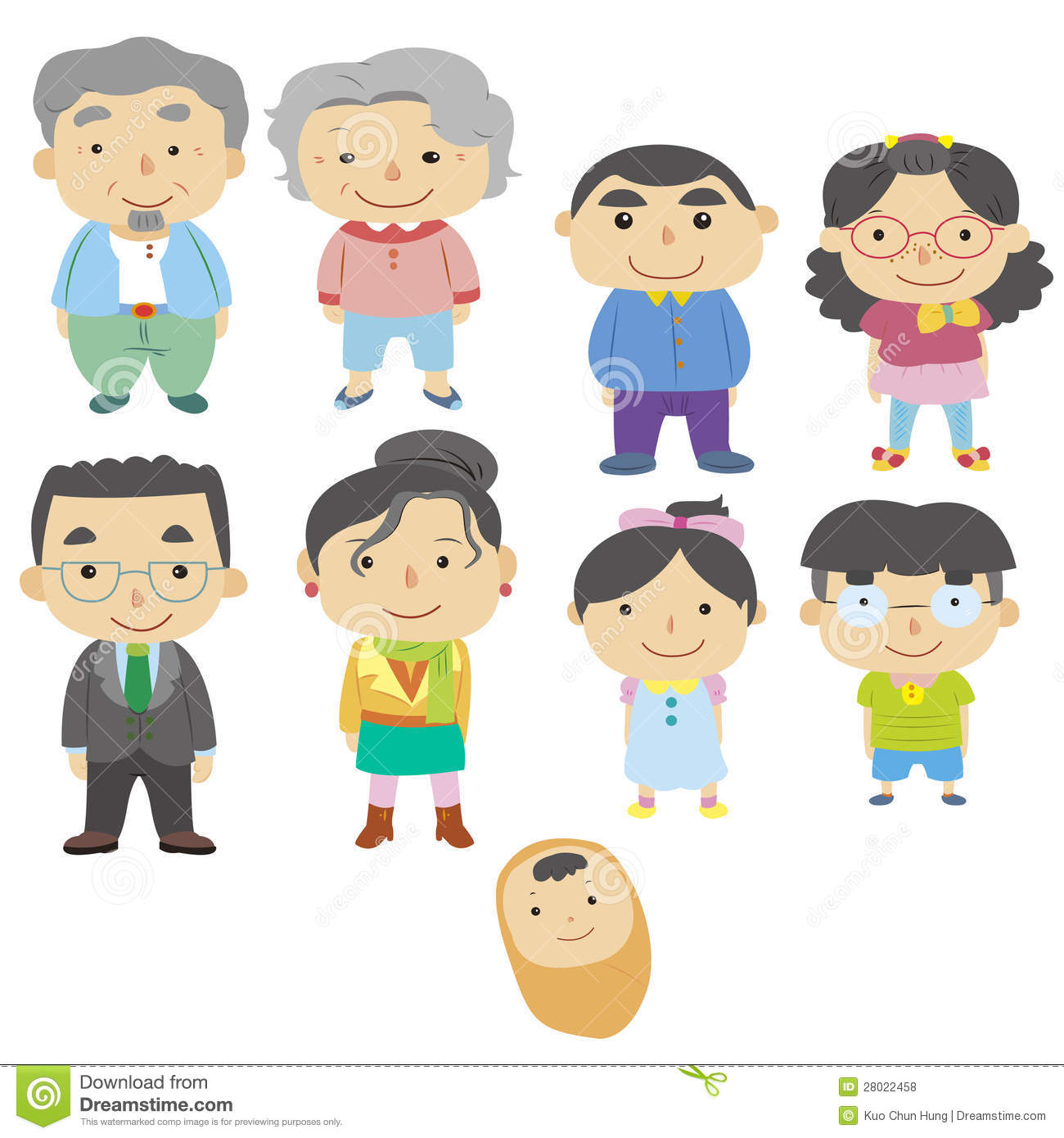 Cartoon family icon stock vector Illustration of daughter