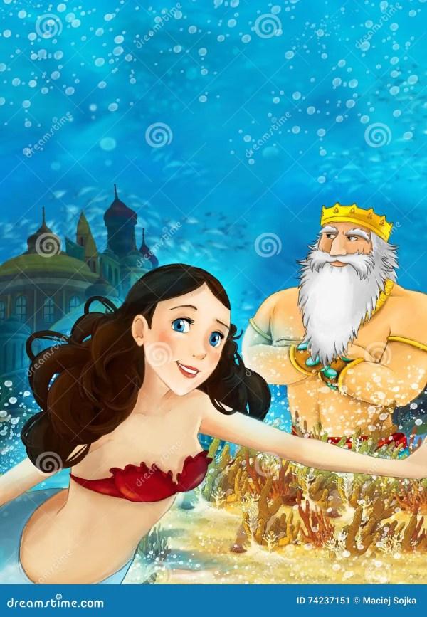 Cartoon Underwater Scene Stock Illustration #75279868