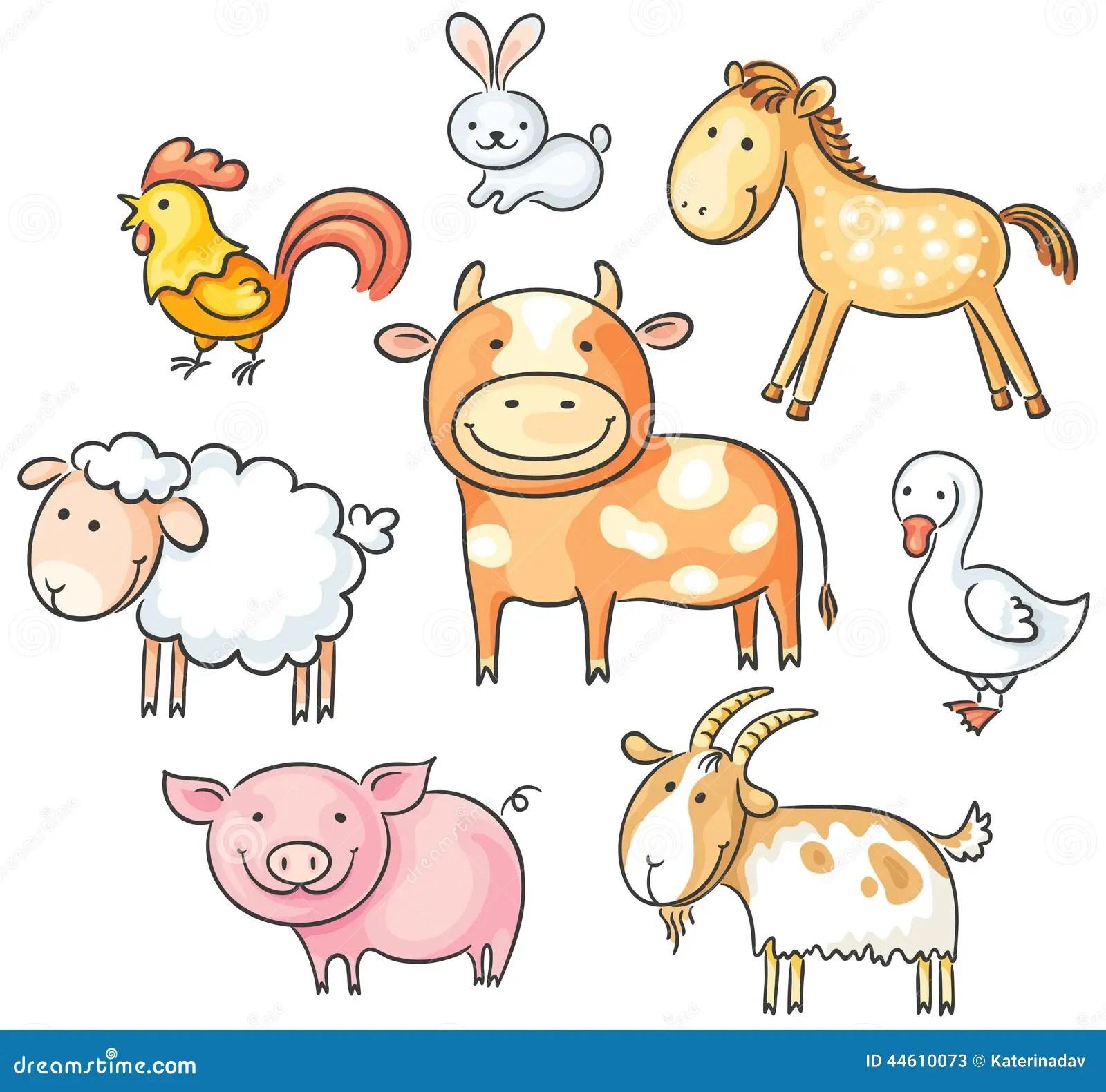 Cartoon Farm Animals Stock Vector Illustration Of Goat