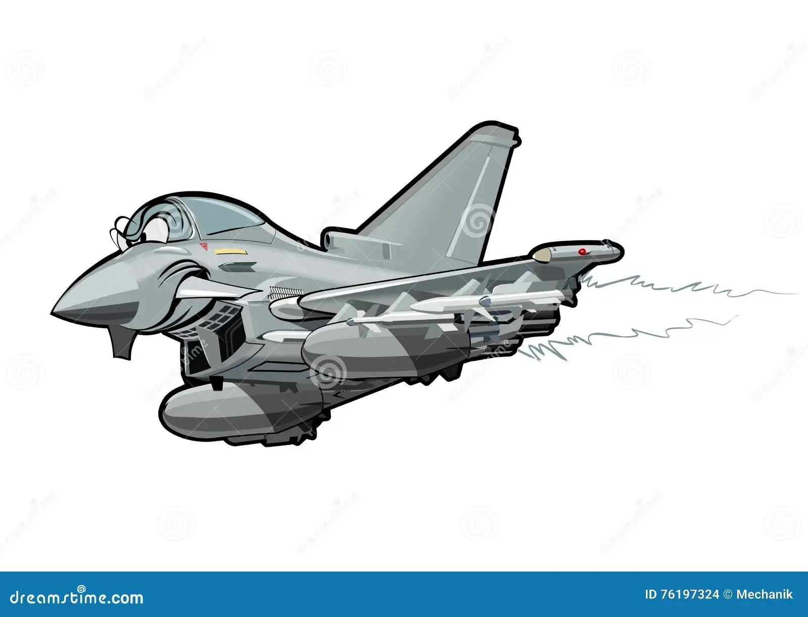 Cartoon Fighter Plane Stock Vector Illustration Of Funny