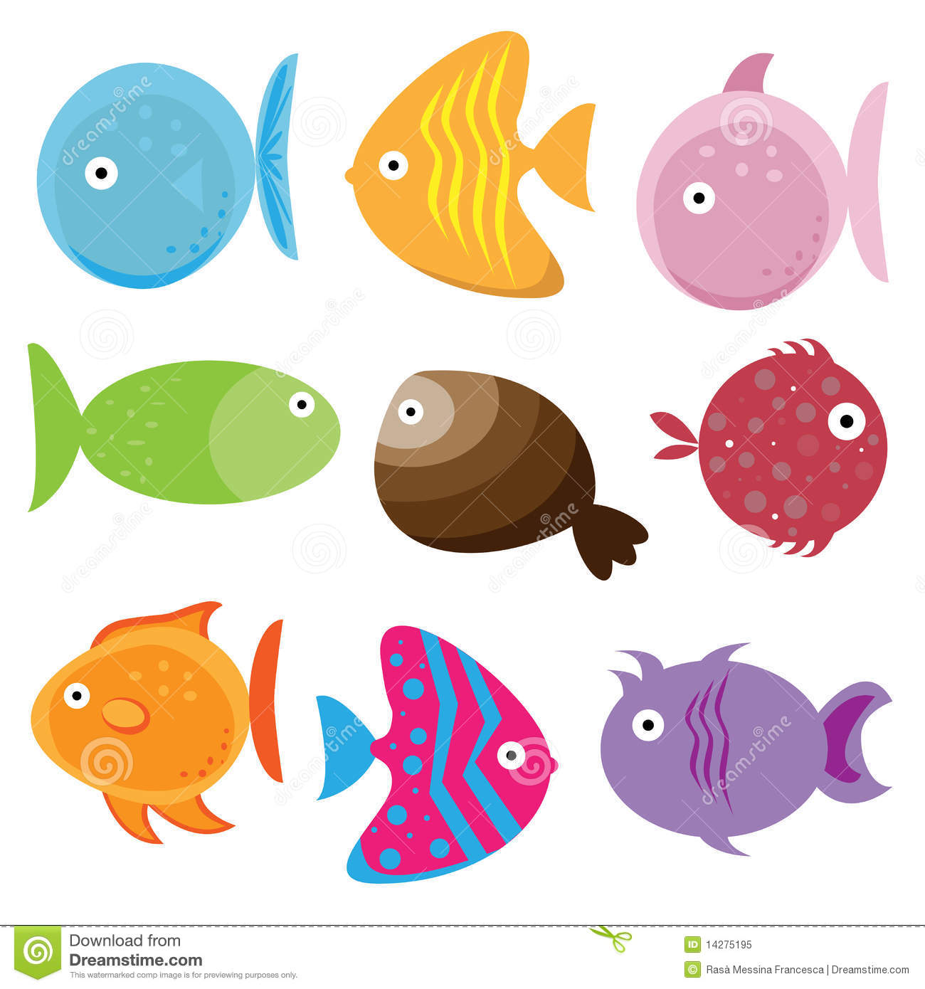 Cartoon Fishes Cartoon Vector