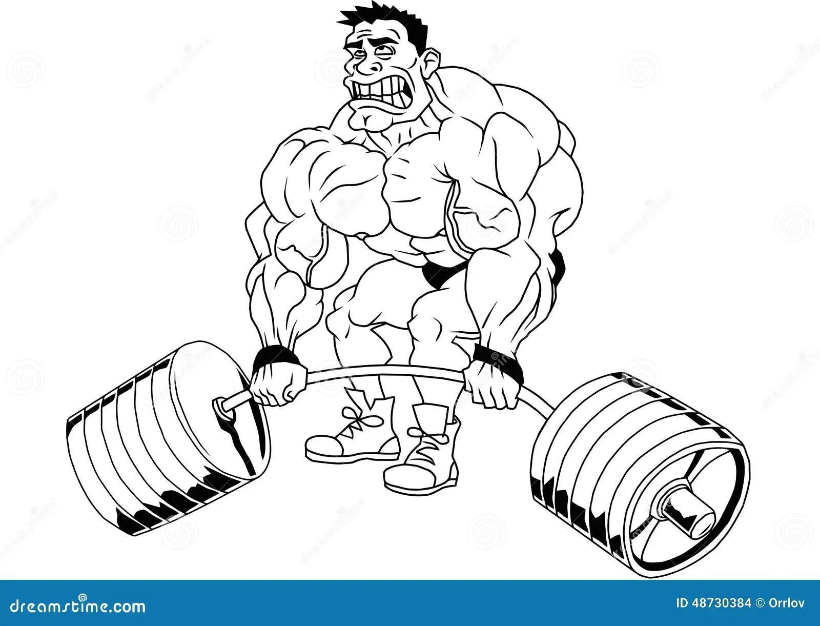 Cartoon Funny Bodybuilder Stock Vector