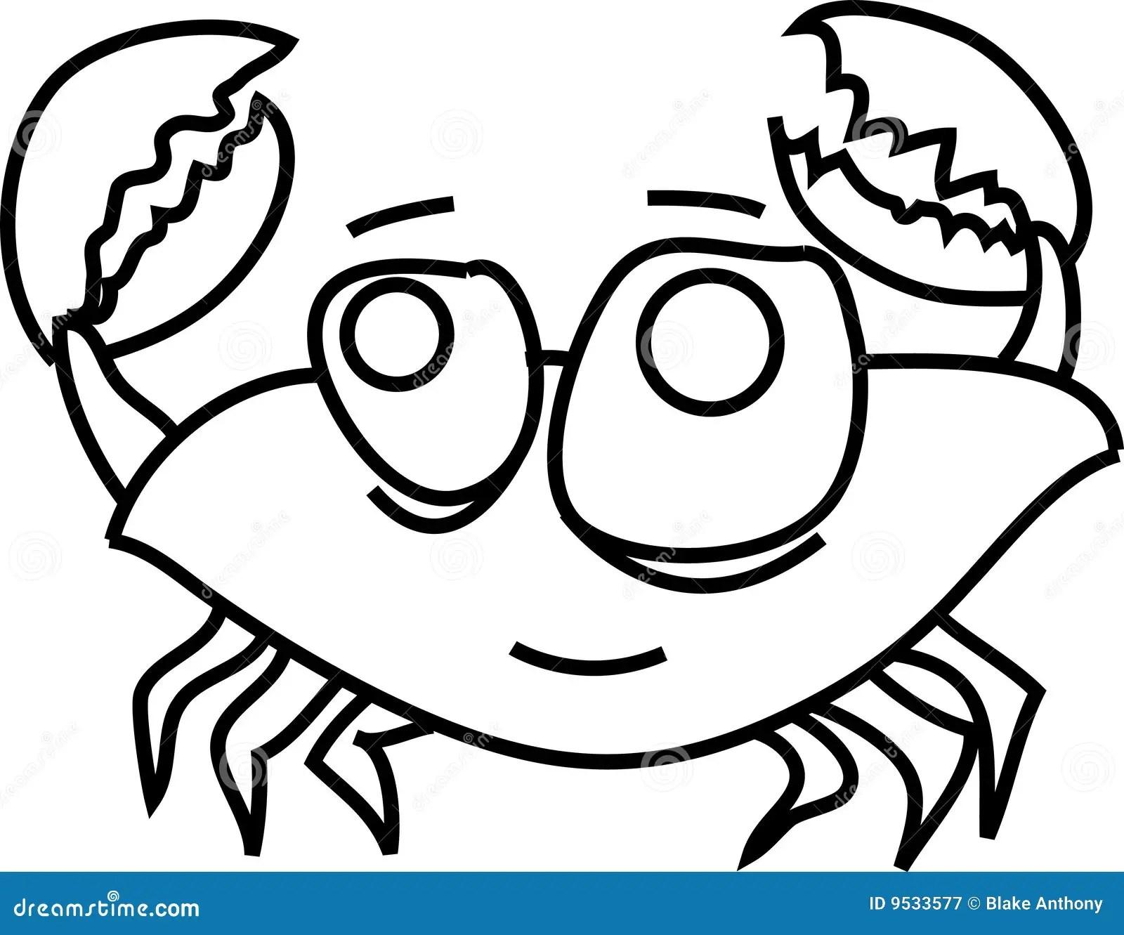 Cartoon funny crab stock vector. Illustration of fish