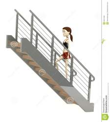 cartoon stairs 3d render royalty illustration preview