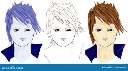 cartoon close faces