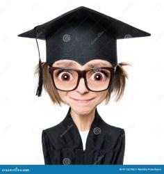 cartoon graduate student laureata studentessa fumetto estudante graduada animados desenhos dos head hat character sad portrait