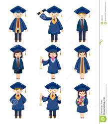 cartoon graduate students icons vector illustration preview human dreamstime