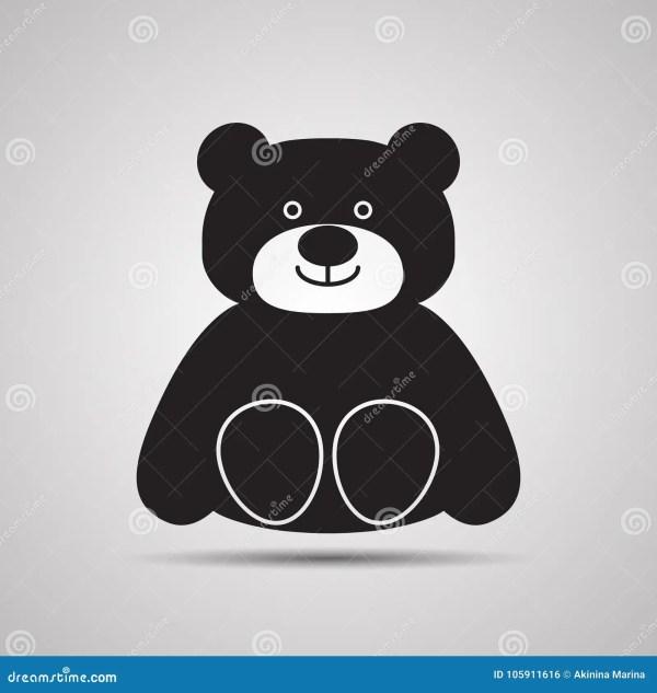 Cartoon Happy Teddy-bear With Smile. Sitting Toy Stock