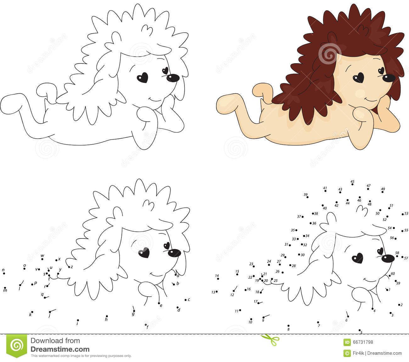 Cartoon Hedgehog In Love Dot To Dot Game For Kids