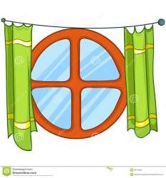 window cartoon clipart vector curtains isolated background clipartmag preview dreamstime