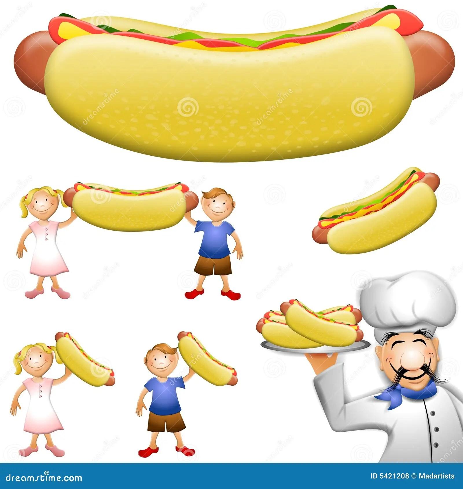 hight resolution of cartoon hotdog clip art