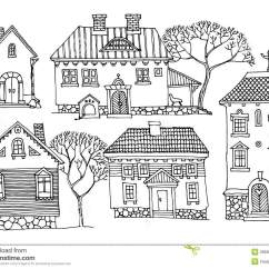 Draw Diagram For Homes Dexter Electric Trailer Brake Wiring Cartoon Houses Stock Vector Illustration Of Pattern