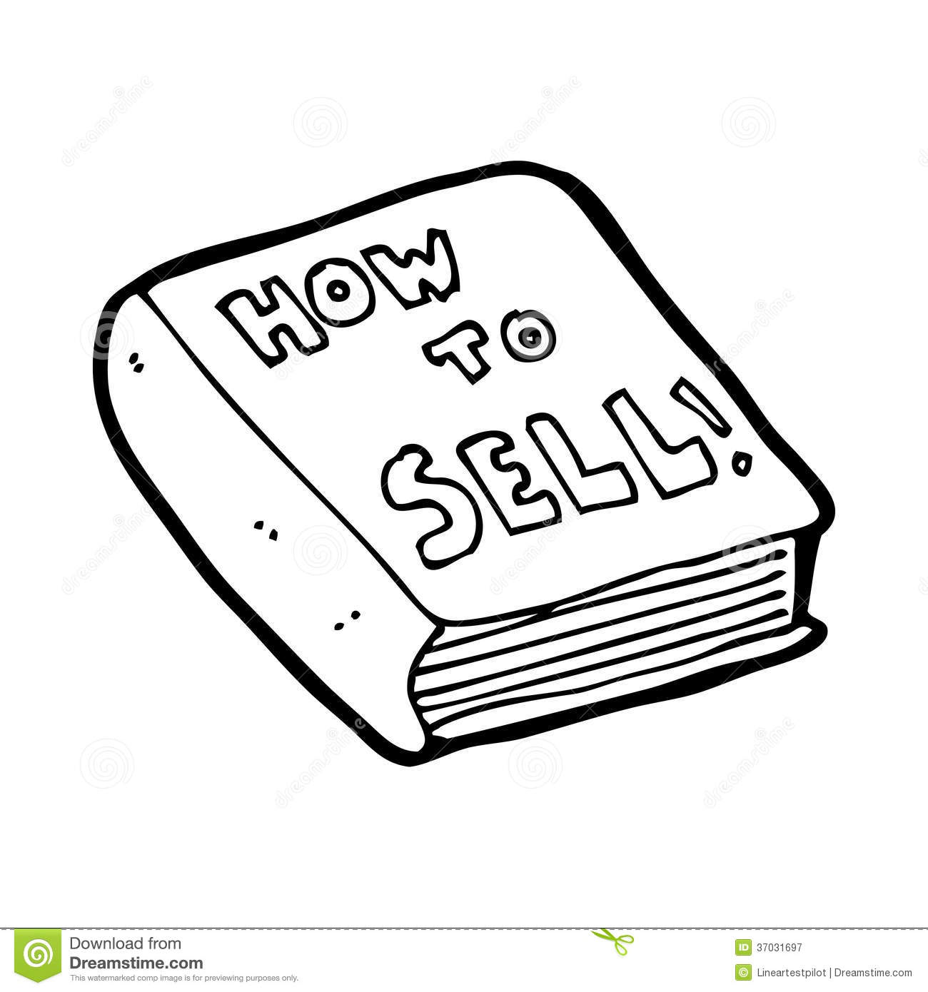 Cartoon how to sell book stock illustration. Image of