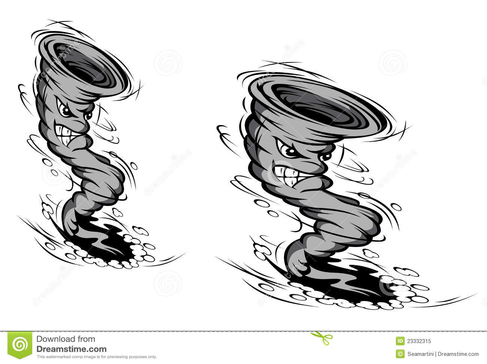 Cartoon Hurricane Stock Vector Illustration Of Cyclone