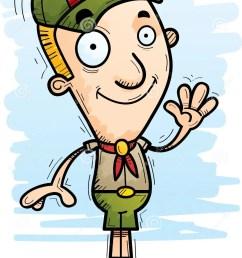 download cartoon boy scout waving stock vector illustration of clipart 115731112 [ 986 x 1300 Pixel ]