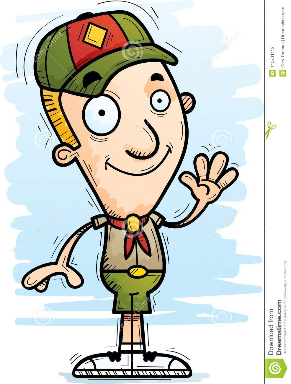 hight resolution of download cartoon boy scout waving stock vector illustration of clipart 115731112