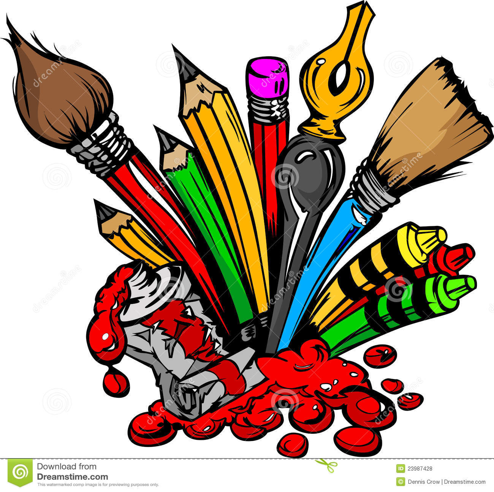 cartoon image of art