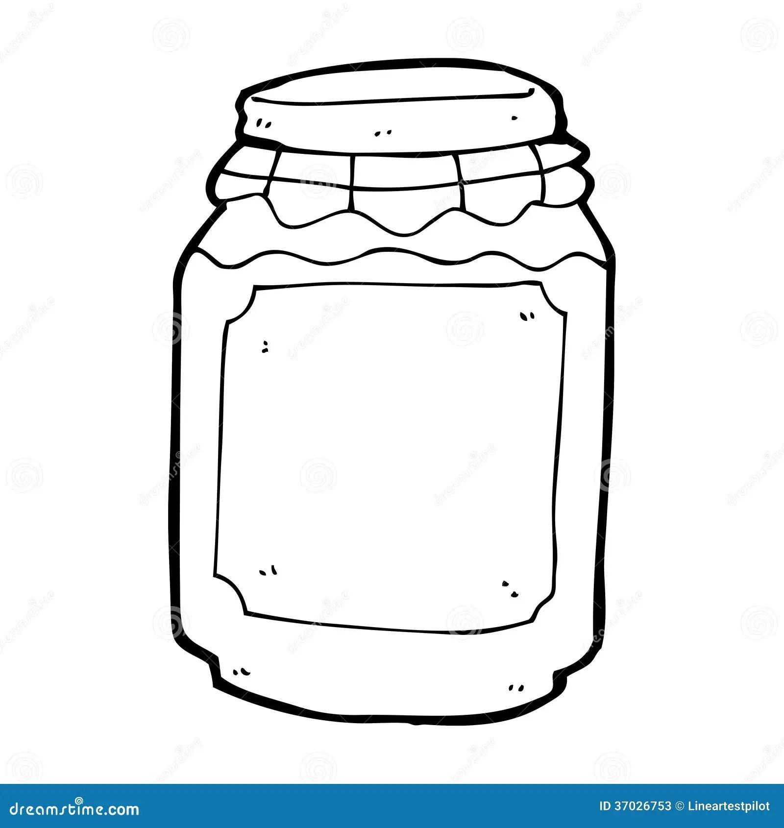 Cartoon Jar Of Jam Stock Illustration Illustration Of