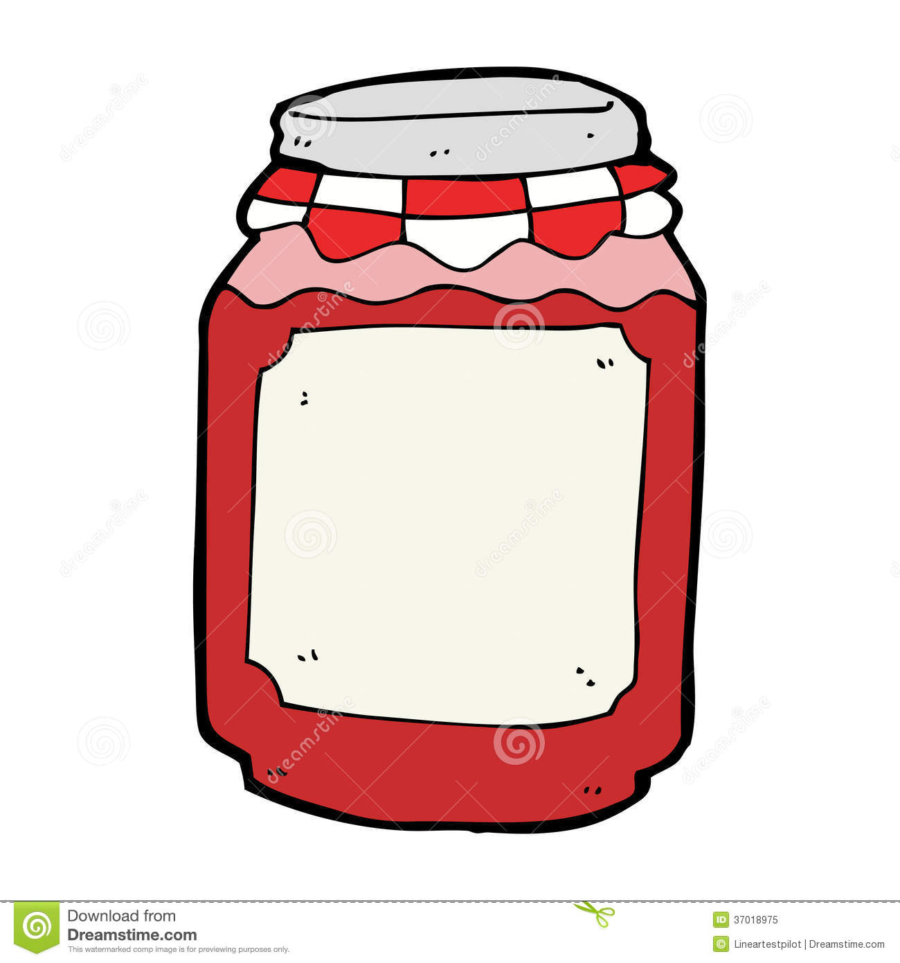 Cartoon Jar Of Jam Stock Vector Illustration Of Quirky