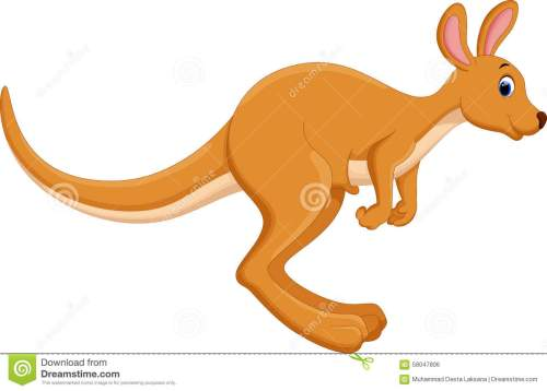 small resolution of cartoon kangaroo jumping