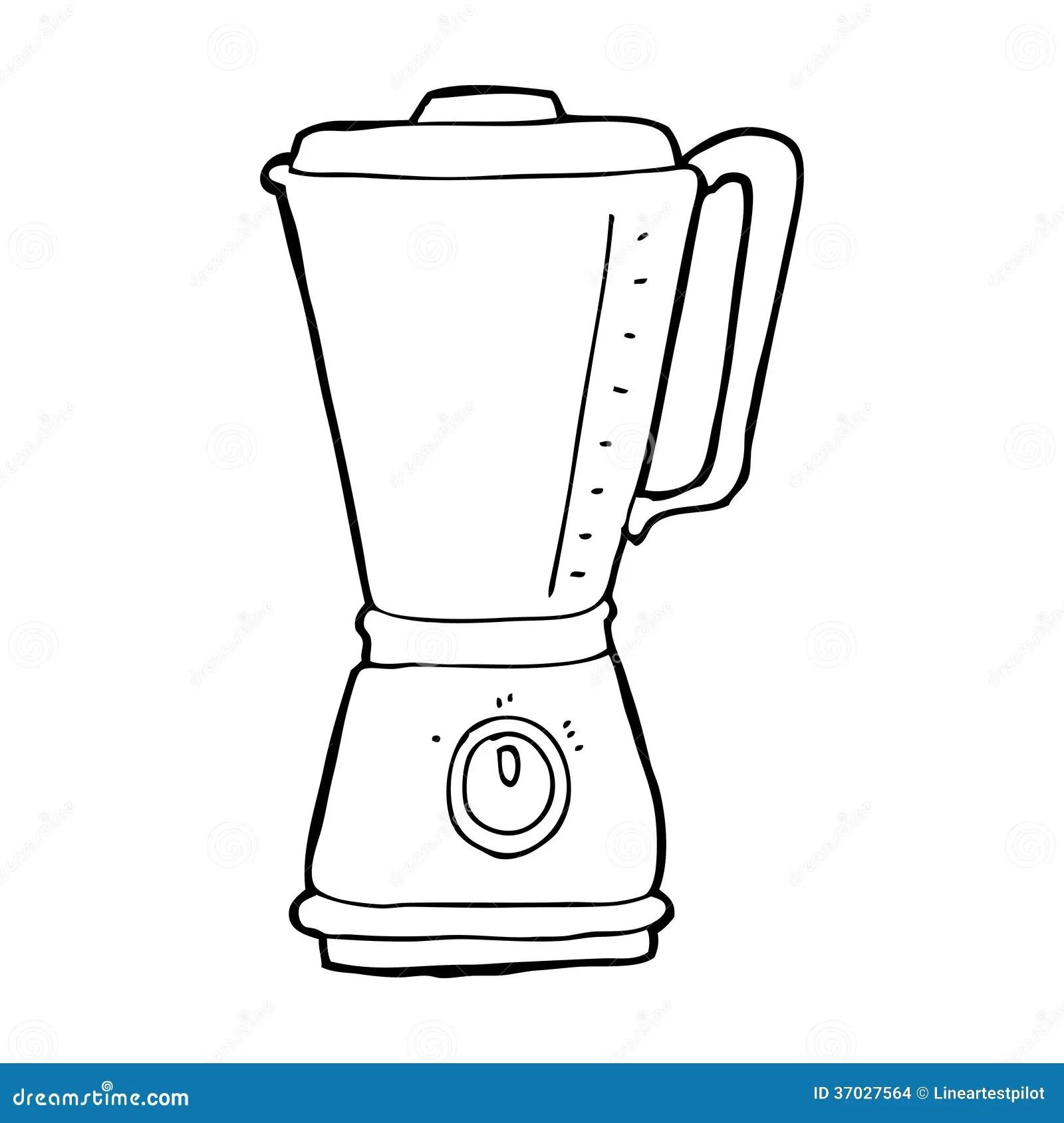 Cartoon kitchen blender stock illustration. Image of funny