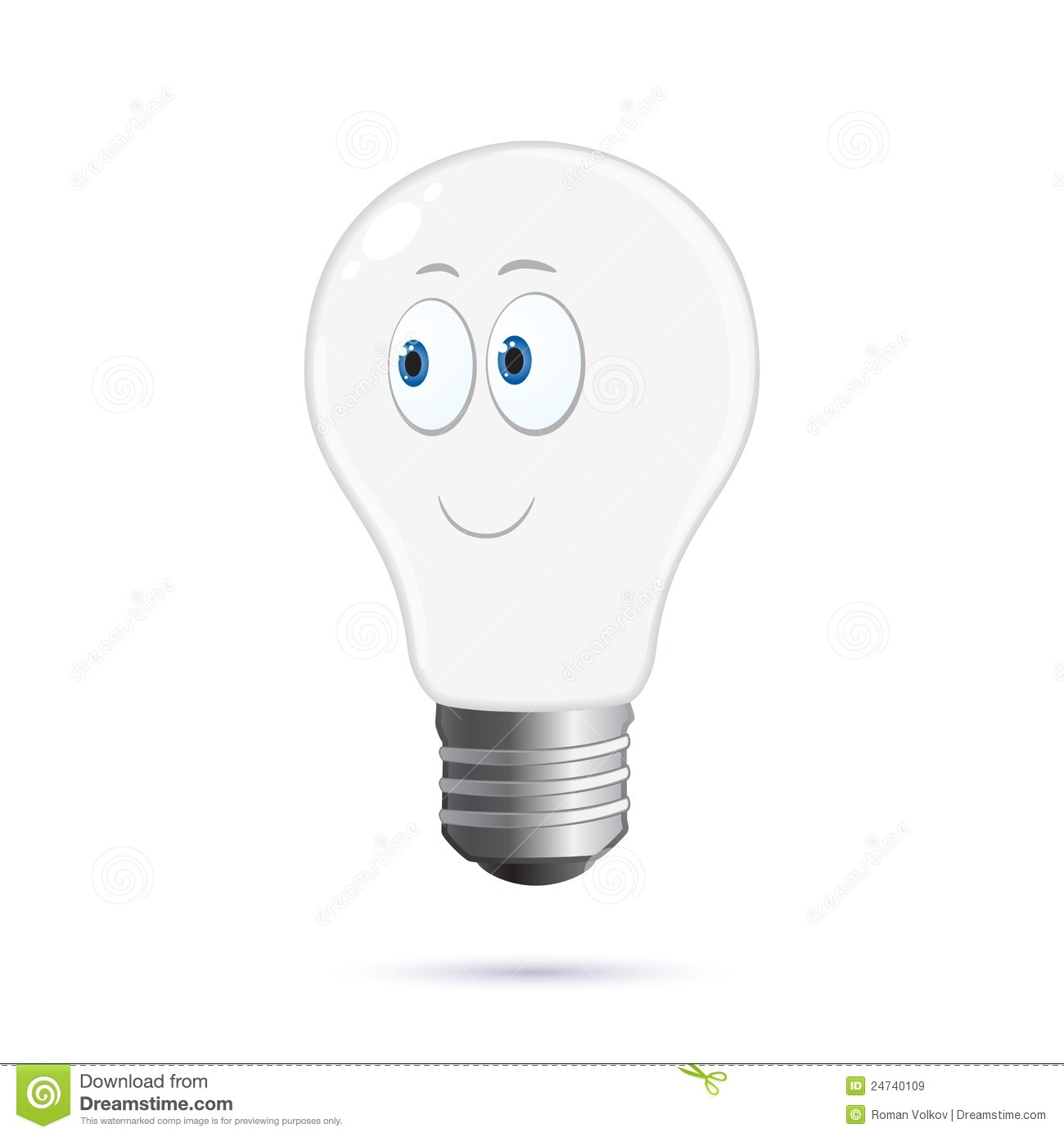 Cartoon Light Bulb Royalty Free Stock Images