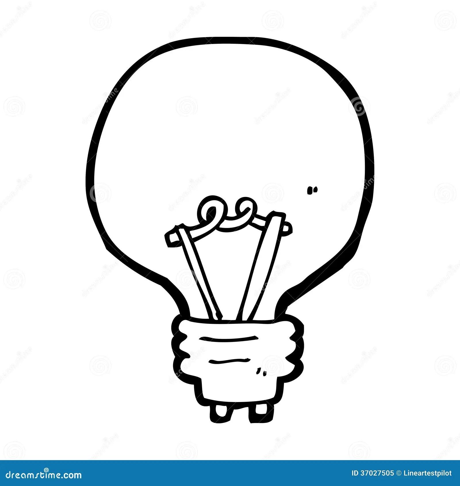 Cartoon Light Bulb Stock Illustration Illustration Of