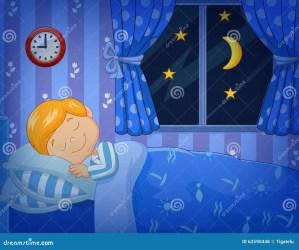 bed sleeping cartoon boy letto nel dorme little fumetto weinig beeldverhaal jongensslaap het ragazzino che bedtime vettoriale vector