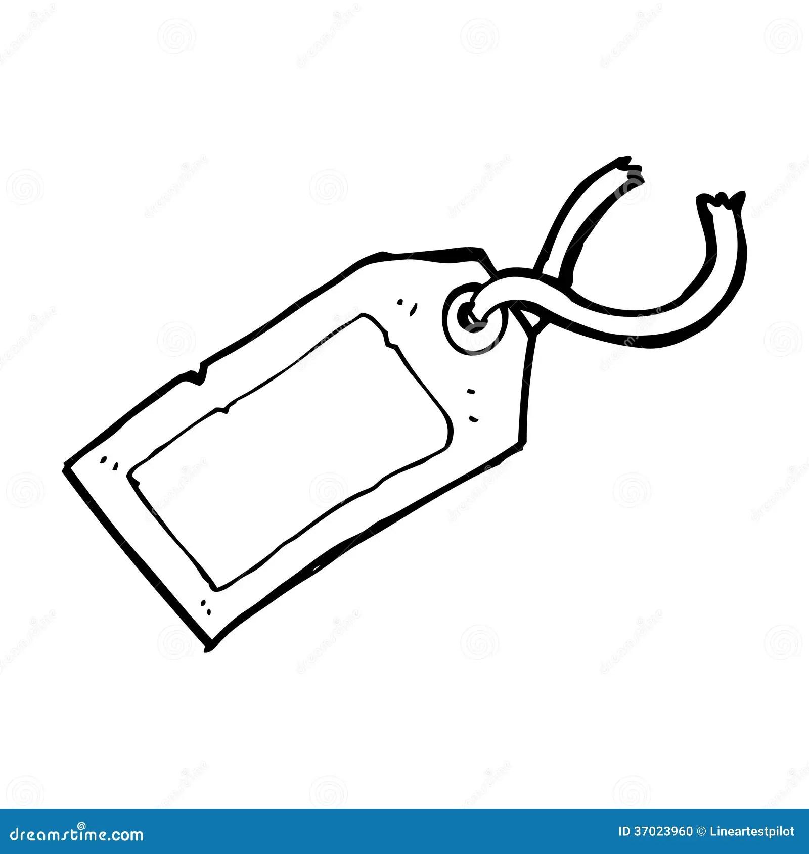 Cartoon Luggage Tag Stock Illustration Illustration Of