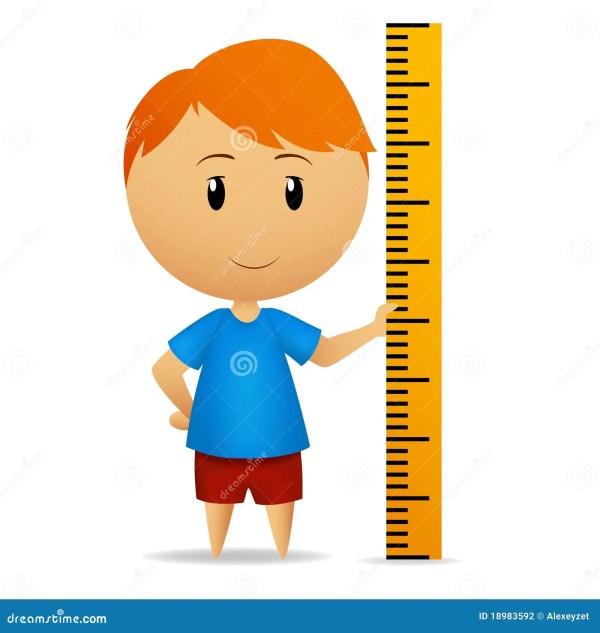 Cartoon Man With Ruler Straightedge Stock