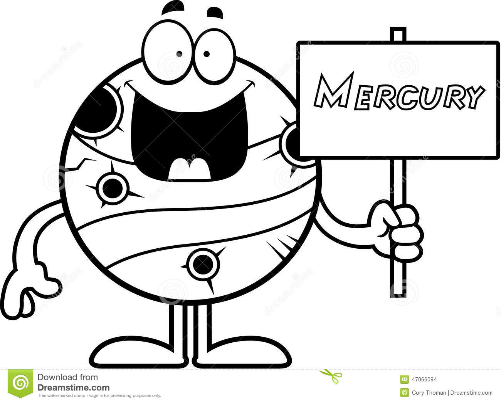 Cartoon Mercury Sign stock vector. Illustration of graphic