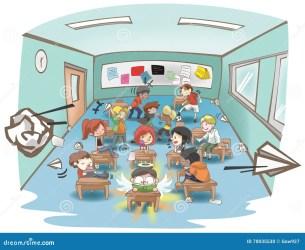 Cartoon Messy School Classroom Full Of Naughty Kid Student Stock Illustration Illustration of child good: 70035530